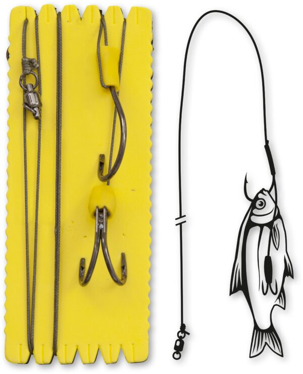 Black Cat Bouy and Boat Ghost dubbele haak Rig