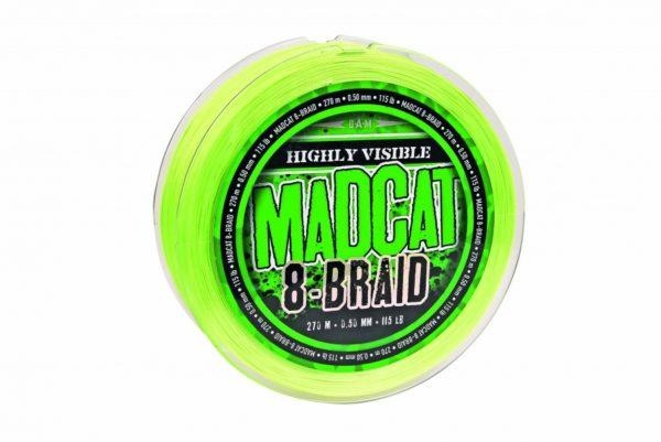 MADCAT 8-BRAID 270M 0.40MM 40.8KG 90LBS HI VIS YELLOW