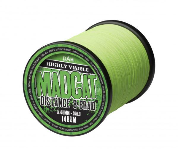 MADCAT DISTANCE 8-BRAID 1480M 0.40MM 32KG 70LBS HI VIS GREEN