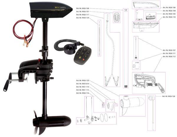 Black Cat BC 2400 Reserveonderdelen Extra Telescopische Handgreep